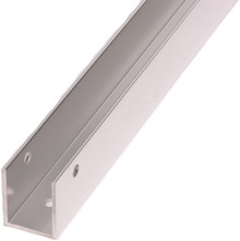 """57"""" x 1/2"""" Aluminum Continuous U-Bracket (6030.5EXT)"""