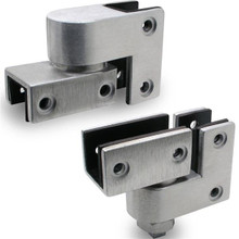 "JN7813 Pivot Hinge Set (3/4"" OR 1"" Door & Post) Stainless"