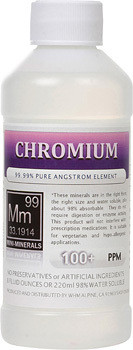 Chromium comes in 8, 16 and 128 ounces.