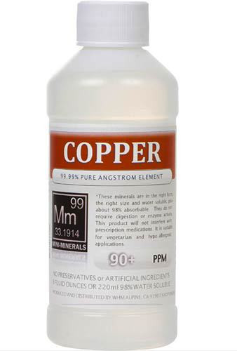Copper comes in 8, 16 and 128 ounces.