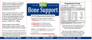 Bone Support comes in 16, 32 and 128 ounce sizes.