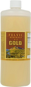 Fulvic Minerals X-2 comes in 32 and 128 ounce sizes.