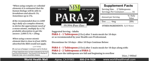 Para-2 comes in a 16 ounce size.