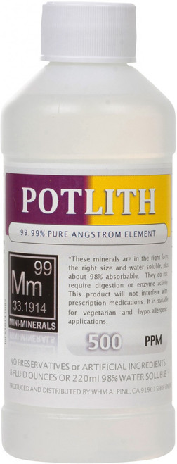 Potlith comes in 8, 16 or 128 ounce sizes. The 128 ounce size is a special order.