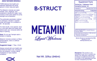 Metamin Bone Structure Formula, Liquid Ionic Angstrom Minerals