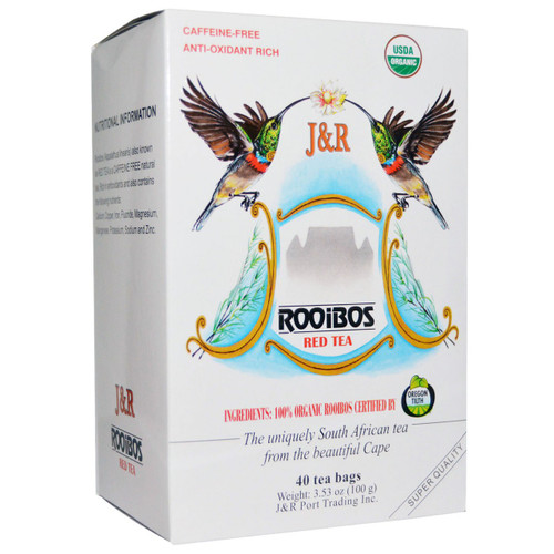 Organic  Rooibos South African Red Tea - 40 tea bags (double the usual amount in a box of tea)