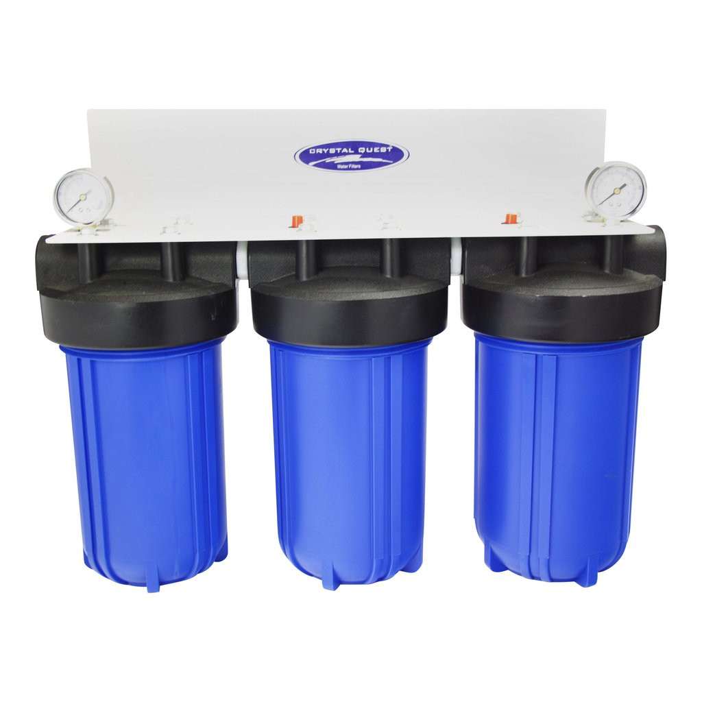 CQ WHOLE HOUSE/CONDO SMALL SPACE COMPACT 8 STAGE WATER FILTRATION SYSTEM  (CITY OR WELL WATER) 10 X 5