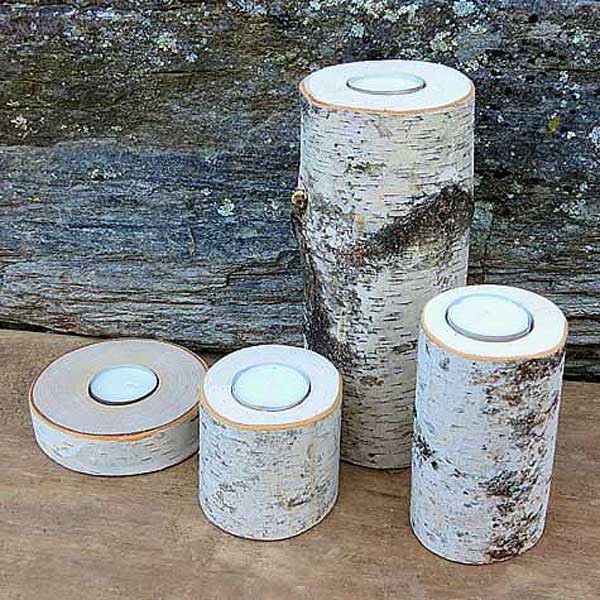 Assorted size Birch Candles
