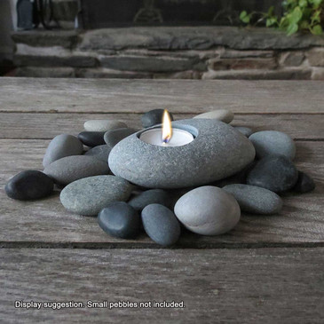 Natural Beach Stone Tealight