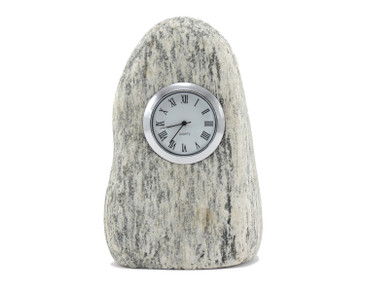 This Beach Stone Clock resembles a scrimshaw whale's tooth!