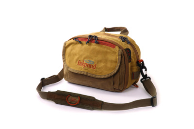 Fishpond Blue River Chest/Lumbar Pack waxed canvas front at Upcountry Sportfishing