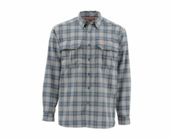 Simms Coldweather LS Shirt - Dark Moon Plaid