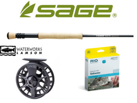 Sage Foundation / Lamson Liquid Salt Water Outfit, 9' 9wt 4piece
