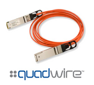 Finisar Quadwire FCBN414QB1C03 3m 56G QDR QSFP+ Active Optical Cable
