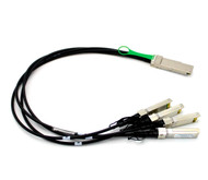 Force10 Compatible CBL-QSFP-4x10GSFP-PASS-05M QSFP to 4xSFP+ 50cm Twinax Breakout Cable
