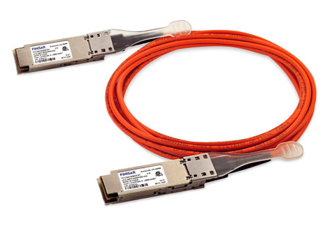Finisar Quadwire FCCN410QD3C07 40Gb/s 40GBASE-AOC 7m QSFP+ Active Optical Cable