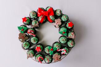 Mini cupcake Wreath