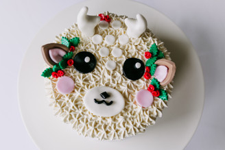 White Reindeer Cake