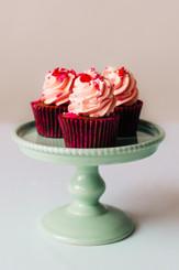 Mini Fresh Strawberry Cupcakes