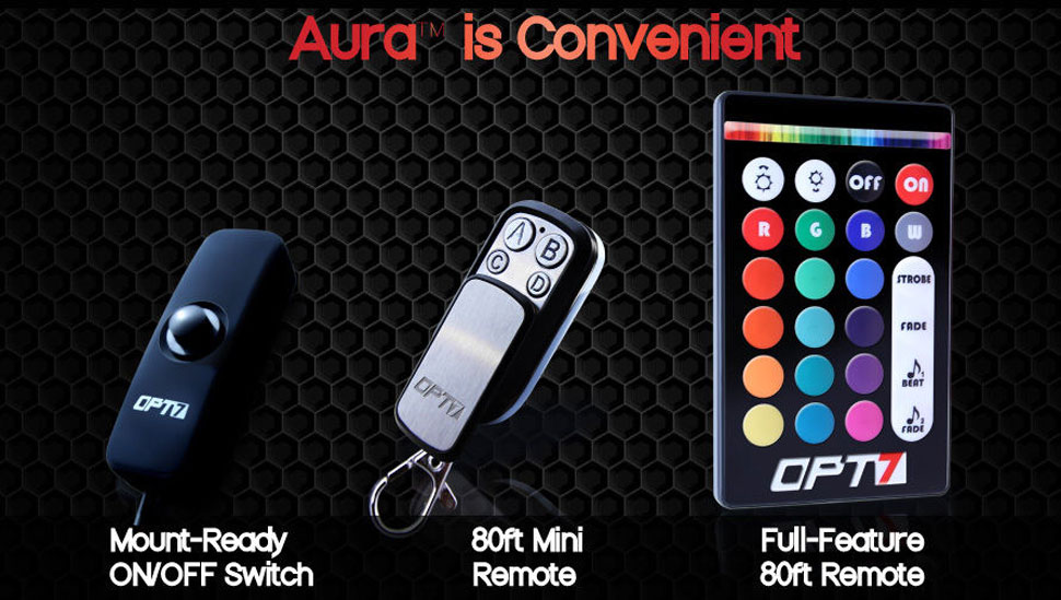 aura motorcycle glow kit remotes