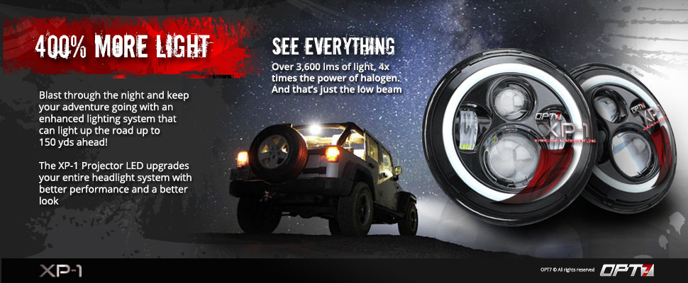 XP-1 LED Halo Projector Headlights