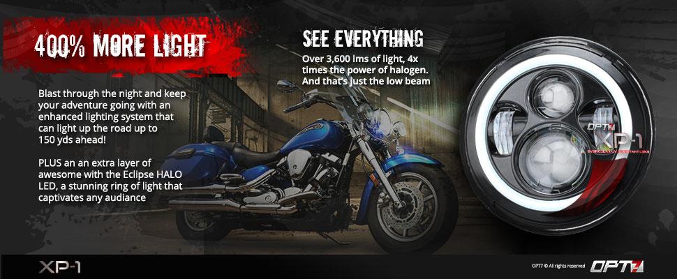 xp1-motorcycle halo headlights