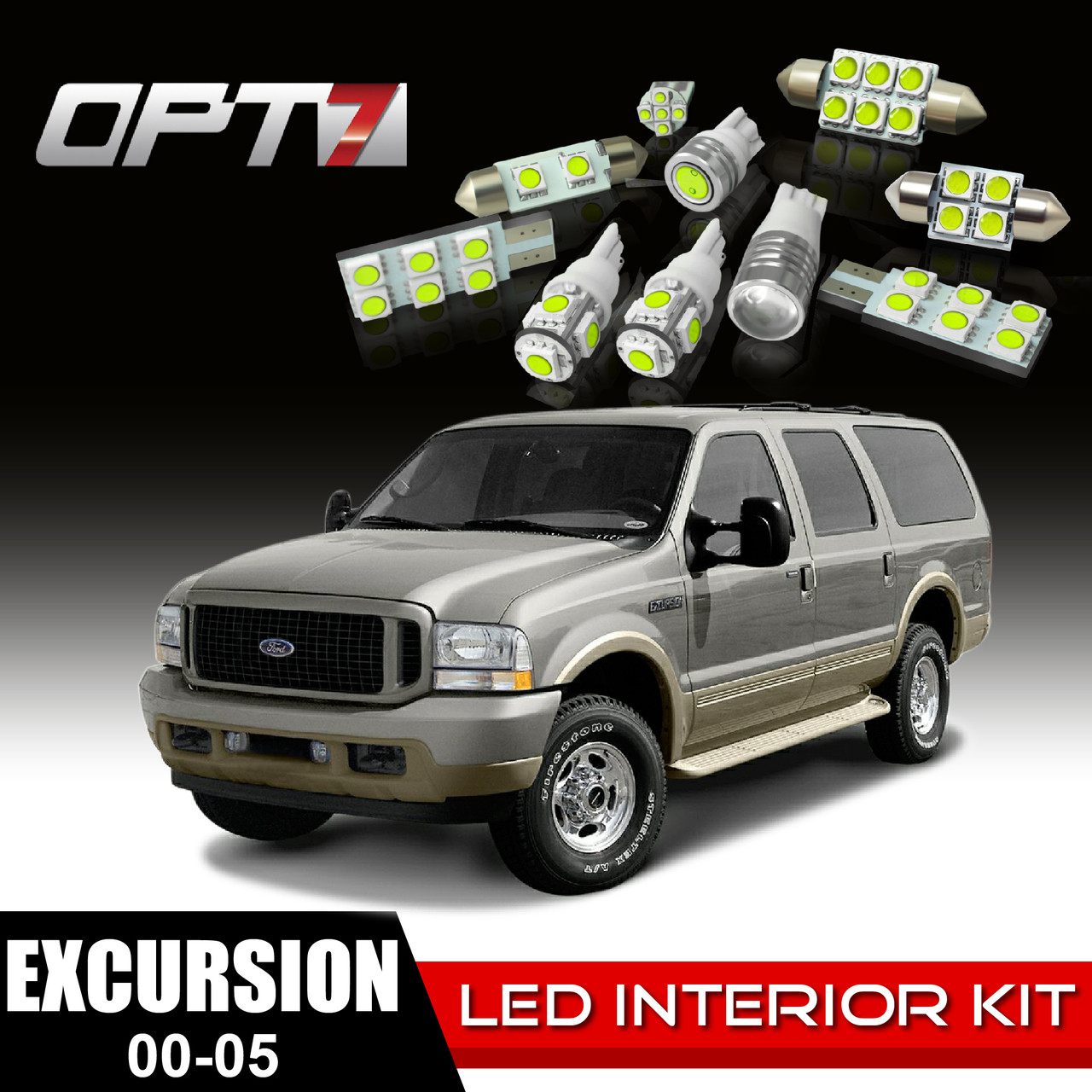Piece Interior Led Light Bulb Package For   Ford Excursion White