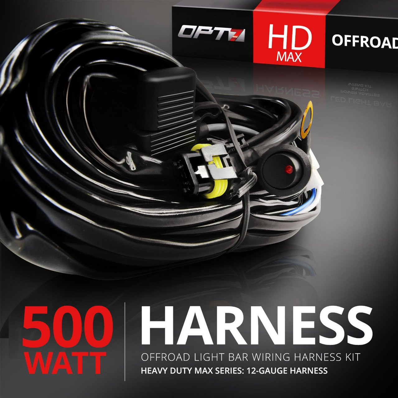 hd max led light bar wiring harness off road relay switch. Black Bedroom Furniture Sets. Home Design Ideas