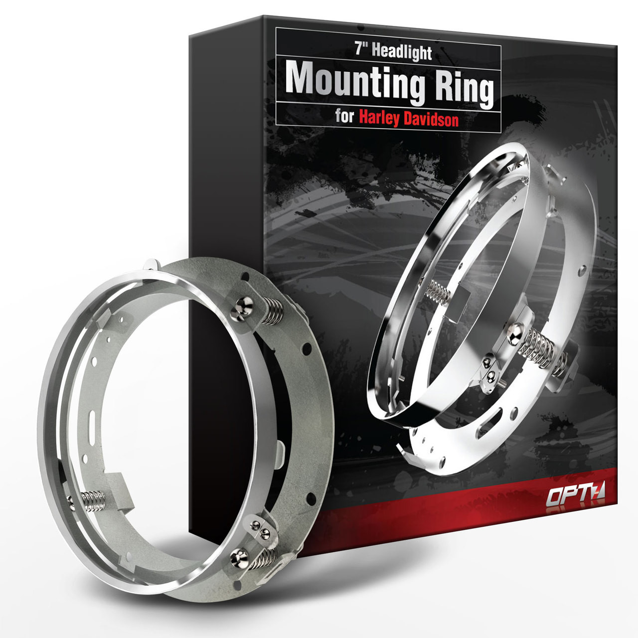 """7/"""" Inch LED Headlight Adapter Mounting Ring Bracket Head Lamp Daymaker Round"""
