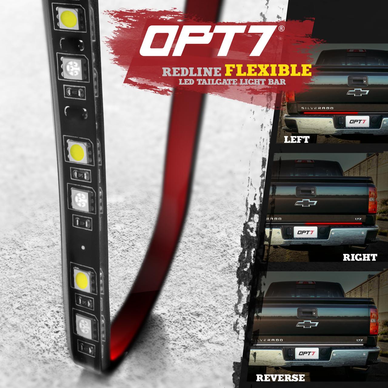 Redline FLX Flexible LED Tailgate ke Light Bar with Reverse on