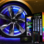 "AURA Wheel Well LED Kit With Four 24"" Single-Color Strips"