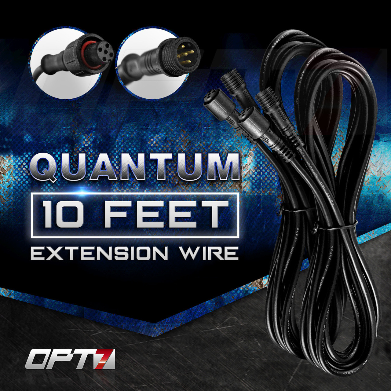 10-Foot Extension Wires for AURA Quantum LED Rock Light Kit (Pair) on