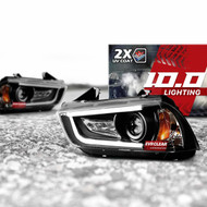 2011-2014 Dodge Charger 10.0 Projector Headlight Assembly with DRL Halo LEDs