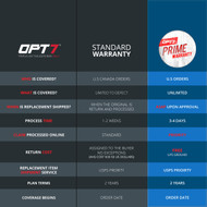 OPT7 Redline Triple Sequential LED Tailgate Prime Warranty Service