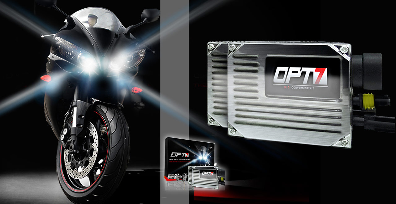Motorcycle Headlight Upgrades & Lighting Accessories - OPT7