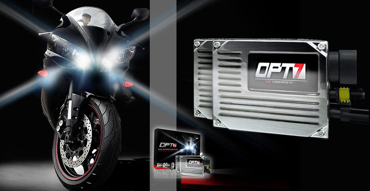 Motorcycle Headlight Upgrades & Lighting Accessories - OPT7
