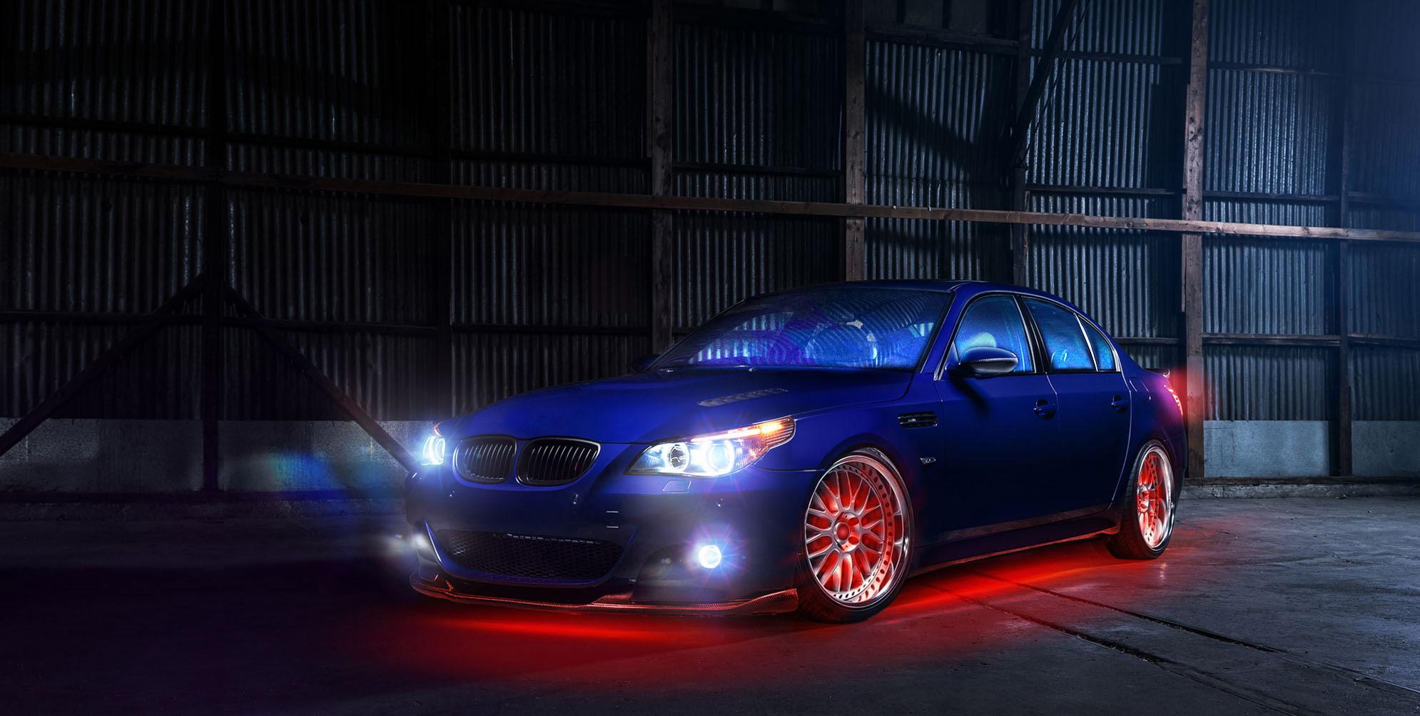 car LED lights on