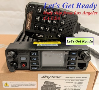 AnyTone AT-D578UV III Pro Tri-Band Amateur DMR/Analog Mobile with GPS and Bluetooth