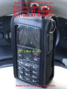 AnyTone Radio Windowed Case with Strap for AT-D878 & D868 (Custom fit Radio case)