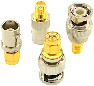 SMA to BNC Kits RF Coaxial Adapter Male Female Coax Connector 4 Pieces set