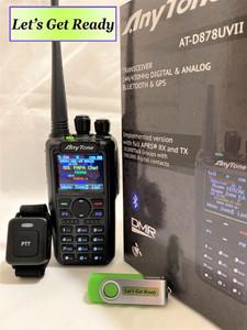 New Version AnyTone AT-D878UV II Plus with GPS Bluetooth Dual Band DMR/Analog Radio