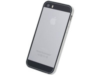 Flat Bumper Silver & Black for iPhone SE 5s/5