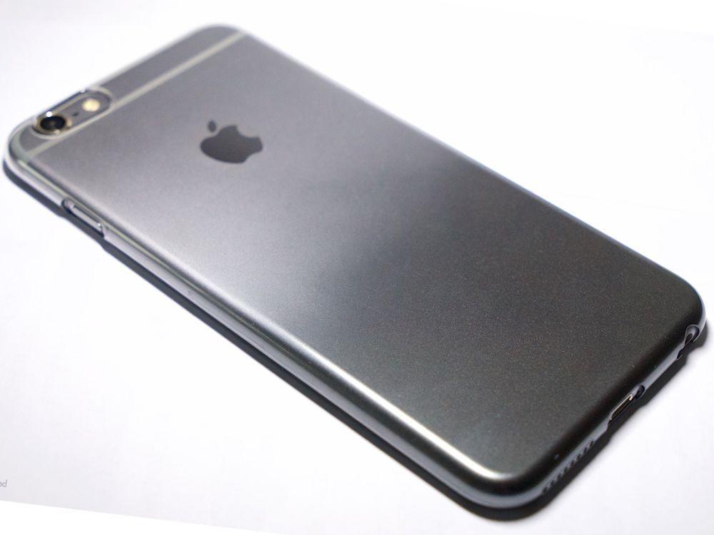 Air Jacket for iPhone 6s Plus/6 Plus Gradation Dark Gray back