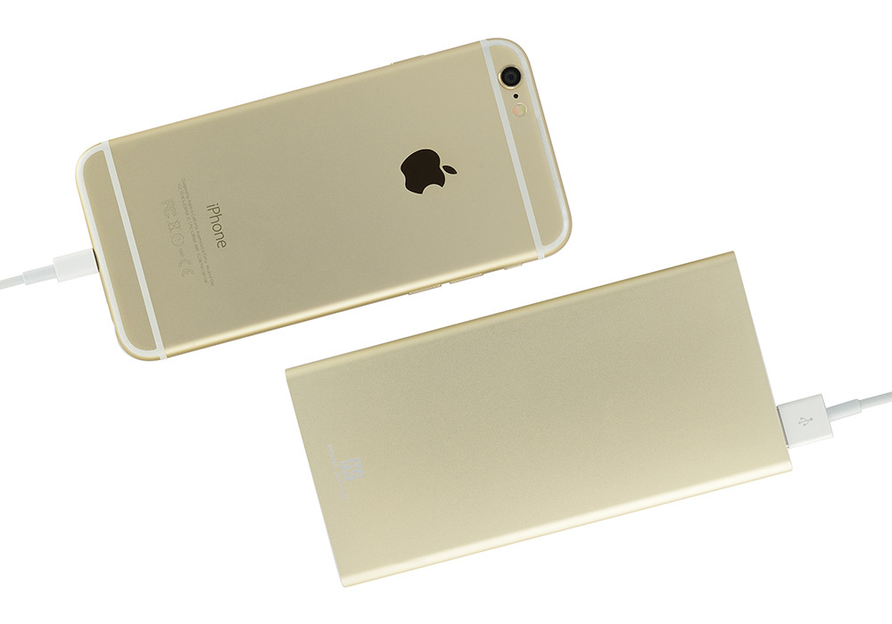 Power Support Mobile Battery with iPhone 6s Gold
