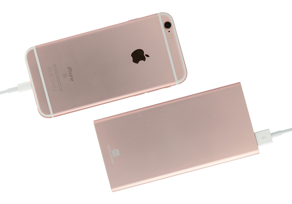 Power Support Mobile Battery with iPhone 6s Rose Gold