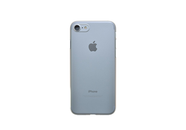 Air Jacket for iPhone 7 Clear Matte back on silver iPhone 7