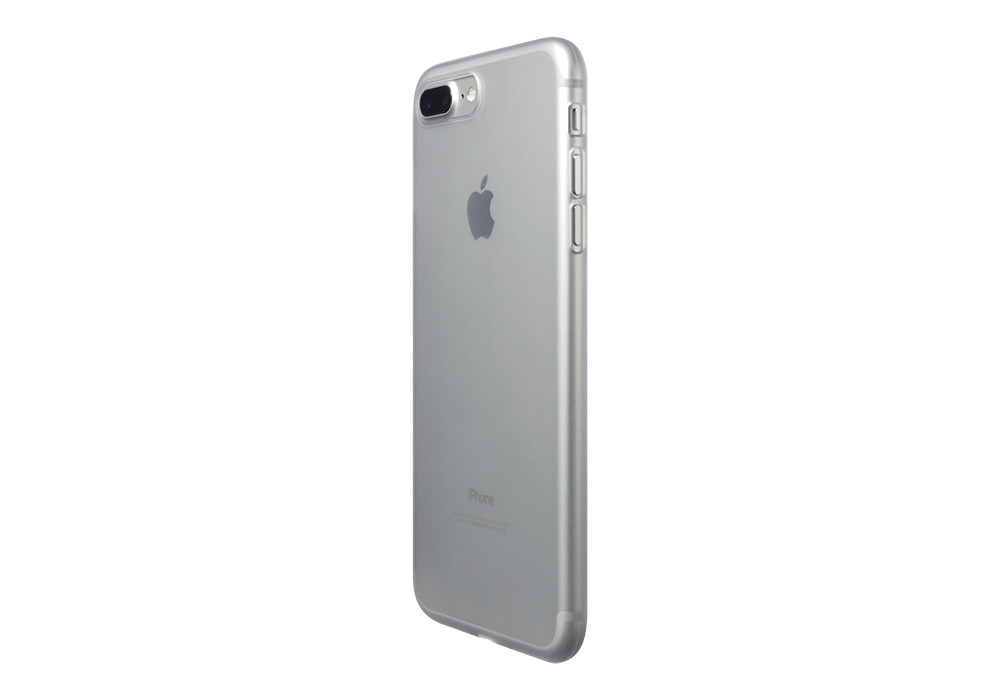 Air Jacket for iPhone 7 Plus Clear Matte on a silver iPhone 7 Plus