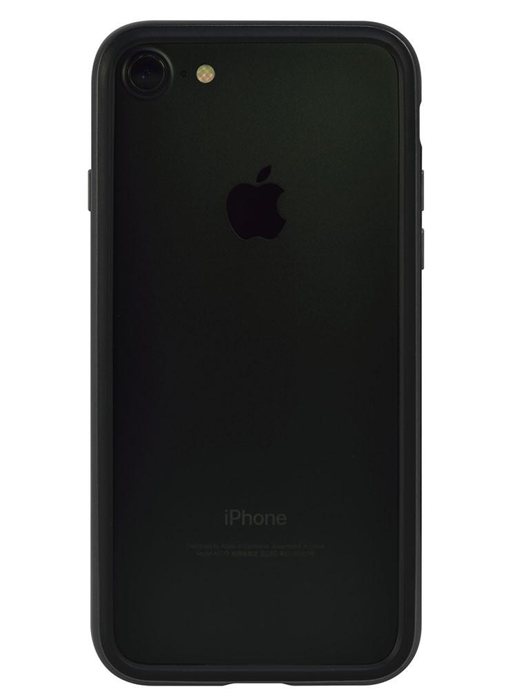 Arc bumper for iPhone 7 Chrome Black on black iPhone back