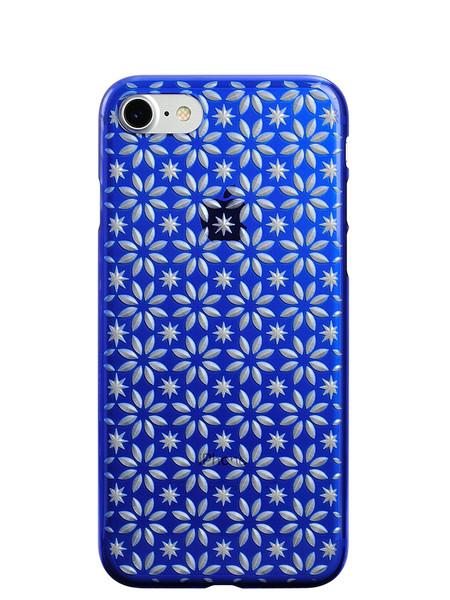 Air Jacket KIRIKO for iPhone 7 Pinwheel & Star Blue