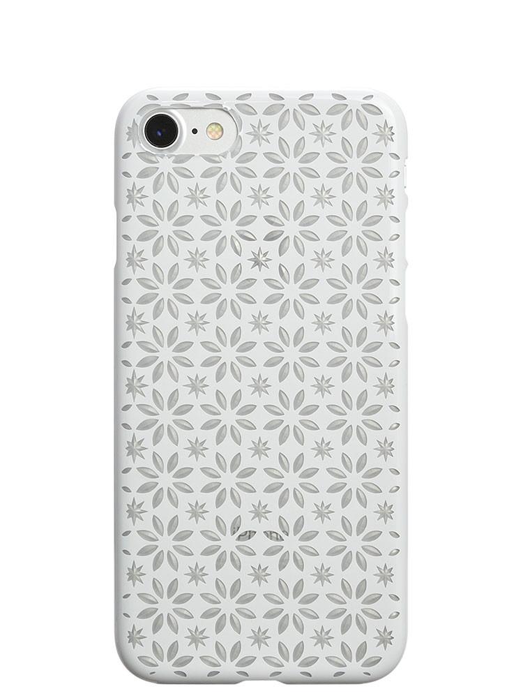 Air Jacket KIRIKO for iPhone 7 Pinwheel & Star Pure White